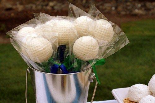 12 Chocolate Golf Balls Lollipops Wedding Birthday Favors Father's Day | AutumnLynnsSins - Edibles on ArtFire $12