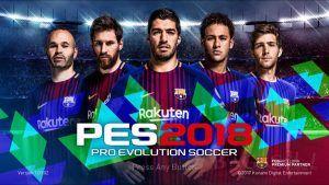 PES 2018 Mobile Mod Barcelona Menu Android Download