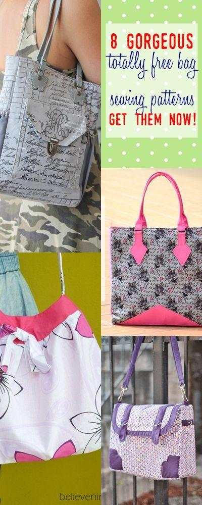free bag patterns | bag sewing patterns | messenger bag pattern | tote sewing pattern