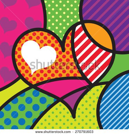 Heart. Shape. Love. Sexy Modern pop art artwork for your design