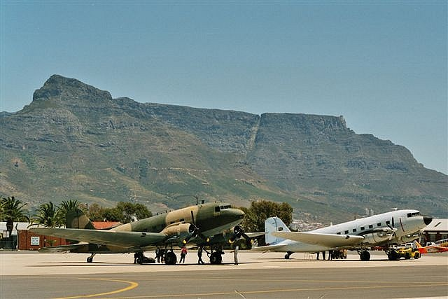C-47's in front of Table Mountain by ernst kruize, via Flickr