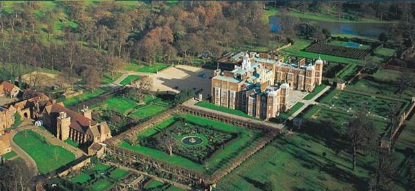 Hatfield House is a country house set in a large park, the Great Park, on the eastern side of the town of Hatfield, Herts. The present Jacobean house, a leading example of the prodigy house, was built in 1611 by Robert Cecil, First Earl of Salisbury and Chief Minister to King James I + has been the home of the Cecil family ever since. A prime example of Jacobean architecture.
