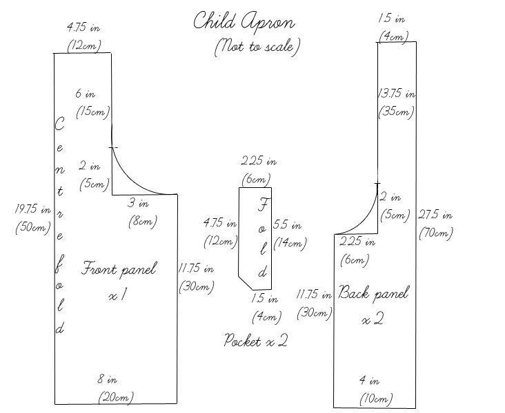 Child-size Japanese apron pattern & tutorial from Fabrics-Store.com