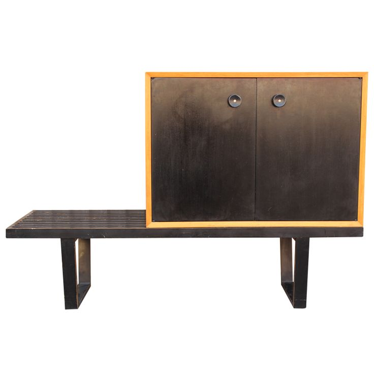 Cabinet/Bench by George Nelson for Herman Miller | From a unique collection of antique and modern cabinets at http://www.1stdibs.com/furniture/storage-case-pieces/cabinets/