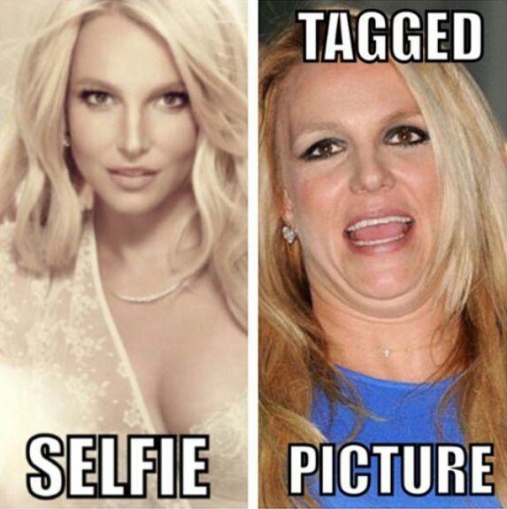 Tus fotos Vs. Las fotos en la que te taggean. | Los mejores memes de Britney Spears en todo Internet