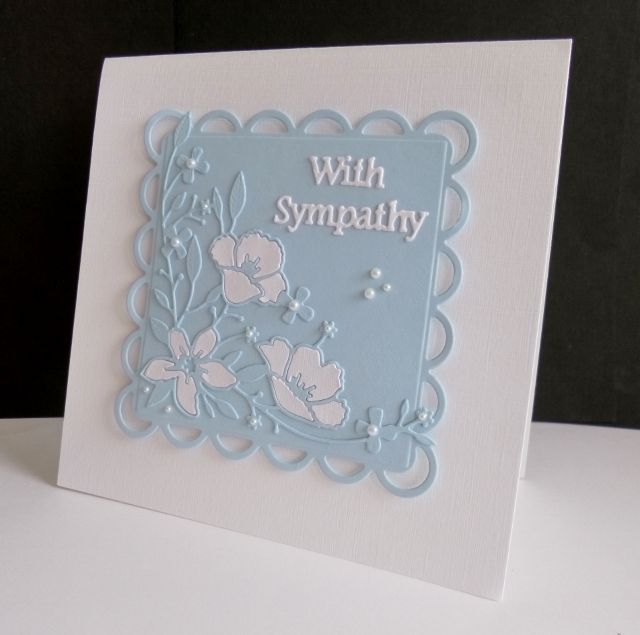 F4A319 ~ Floral Sympathy by sistersandie - Cards and Paper Crafts at Splitcoaststampers