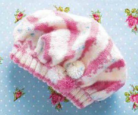 Вязание шапочки спицами малышу