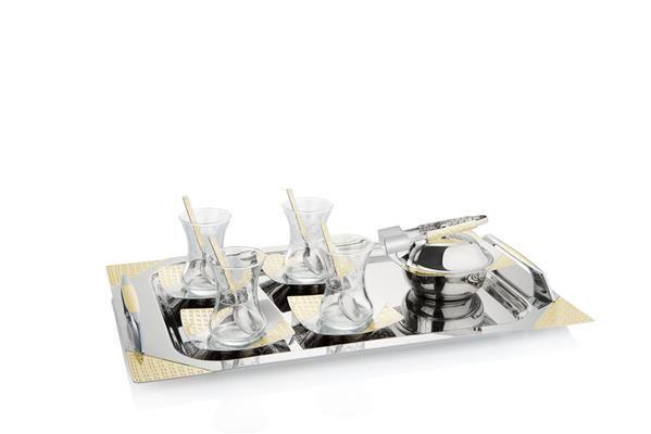 Pierre Cardin 40 Parça Estella Gold Tepsili Set | cazip geldi