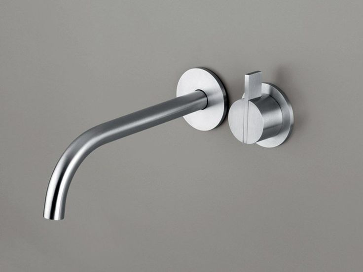 Wall-mounted single handle washbasin mixer COCOON PB SET01 by COCOON design Piet Boon