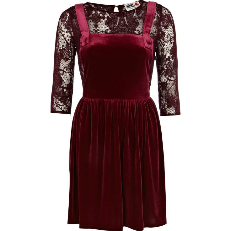 Dark Red Chelsea Girl Velvet Pinafore Dress - Sparkle and Shine: 10 Amazing Party Dresses to Help You Look Your Best this Holiday Season + Options for Dress Haters! - StorybookApothecary.com #holiday #christmas #thanksgiving #fashion #style #fbloggers #clothing #shopping