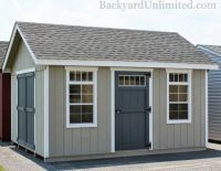 12x14 Garden Shed With Additional Single Door And Transom Windows Carriage House Doors Garden Shed Shed Windows