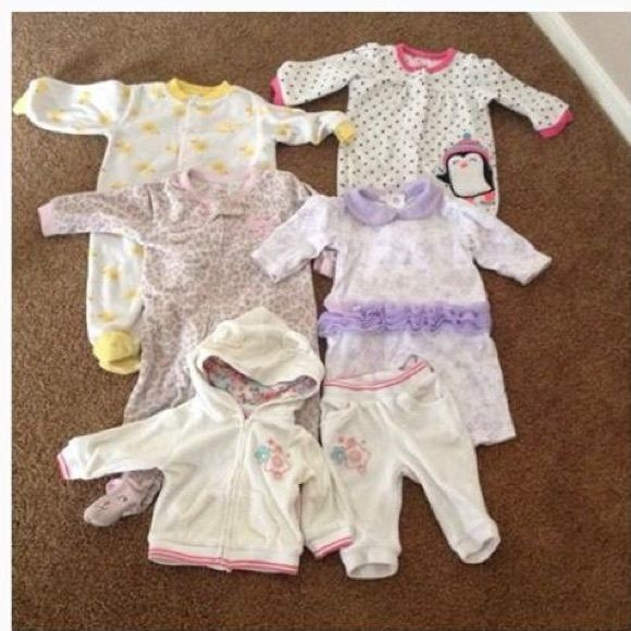 Baby girl pajamas bundle All in great condition size 6 months Intimates & Sleepwear Pajamas