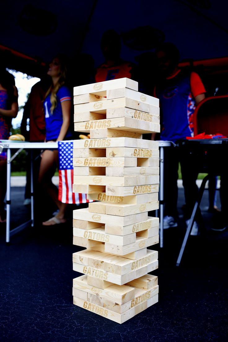Don't forget the tailgate games! Tumble tower is such a fun way to get everyone involved!