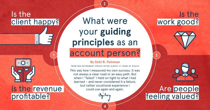 After almost 27 years at Ogilvy, Debi Feinman, reflects on how she measured her own success. Guiding Principles from her retirement speech. Ogilvy & Mather (@Ogilvy) | Twitter