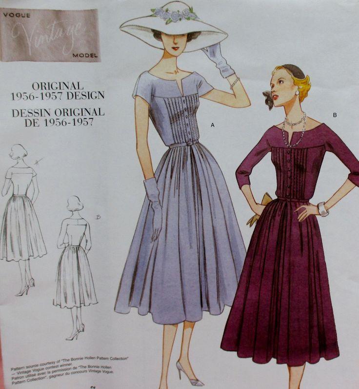 Patron Vogue, nouveau manque design vintage robe et ceinture, corsage ajusté, 1956-1957, taille 12, 14, 16 par DollClothesIsland sur Etsy https://www.etsy.com/fr/listing/254790500/patron-vogue-nouveau-manque-design