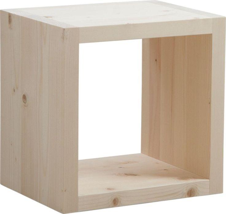 30 best mobilier en bois brut images on pinterest tree - Cube bois brut ...