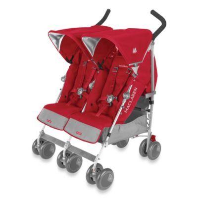 Maclaren® Twin Techno Stroller in Persian Rose - buybuyBaby.com