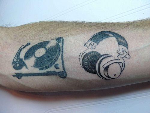 headphones tattoo - Google Search