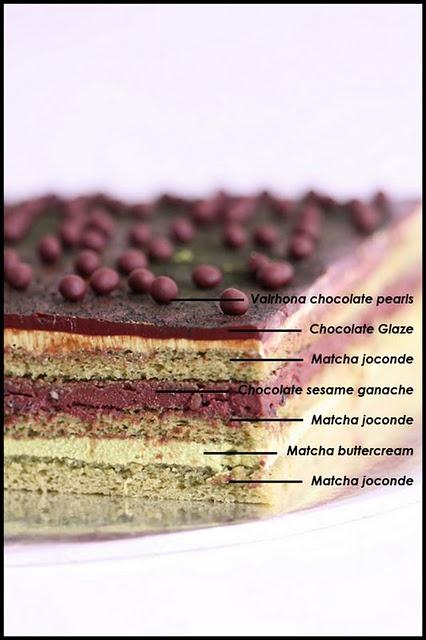 Green tea matcha OPERA cake-make this for Jenna's birthday!
