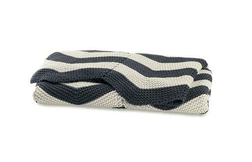 AURA Charcoal Chevron Throw, available at Forty Winks