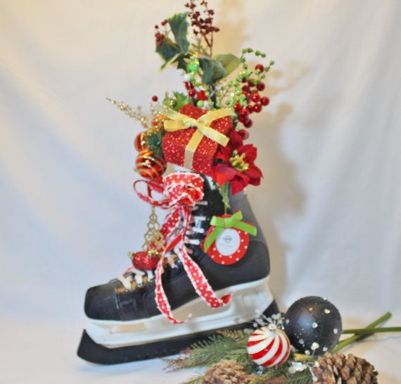 Ice Skates Decoration, Christmas Decoration, Hockey Skates, Home and Fireplace Decorations, Holiday, Men Decorations, CCM Skates