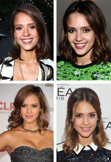 Erste Hilfe bei schulterlangen Haaren - So lässt man Haare richtig wachsen - Glückwunsch! Die erste Hürde ist geschafft. Doch sind die Haare endlich schulterlang, ist das nächste Problem nicht weit: Die Haarenden drehen sich nach außen. Auch Jessica Alba kennt dieses Problem...