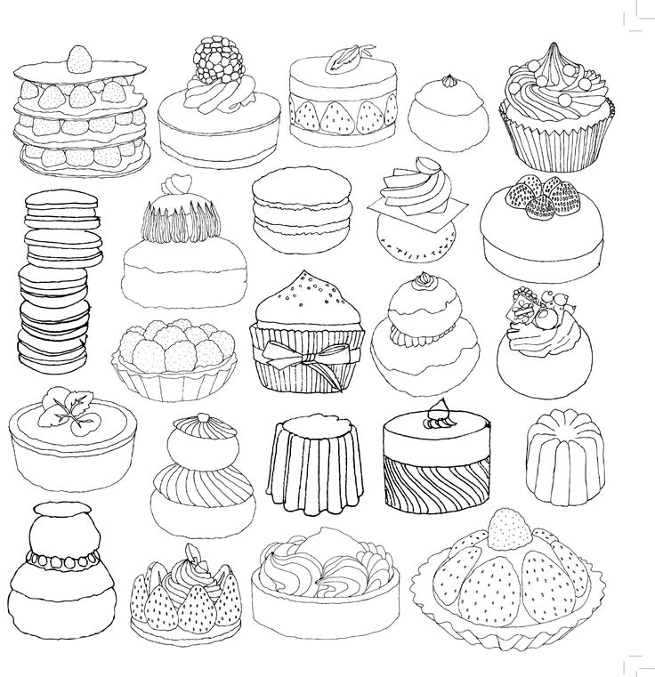 cake coloriage adulte anti stress paris fashion adult coloring