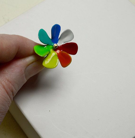 Windmill ringcolorful ringspinning ringunusual by atermono on Etsy