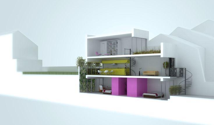 25 best ideas about maquette 3d on pinterest tarlatane - Amenager une maison en longueur ...