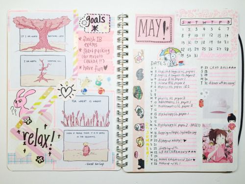 asazora: studyowls: 04/06/2016 // may '16 spreads! after my...