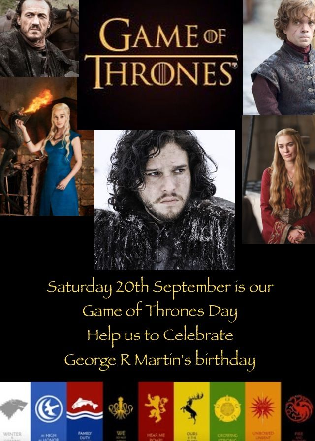Game of Thrones celebration day coming very soon to Diversions more news soon
