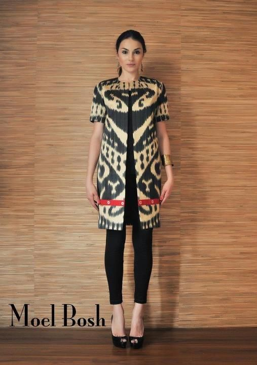 Ikat coat by Moel Bosh