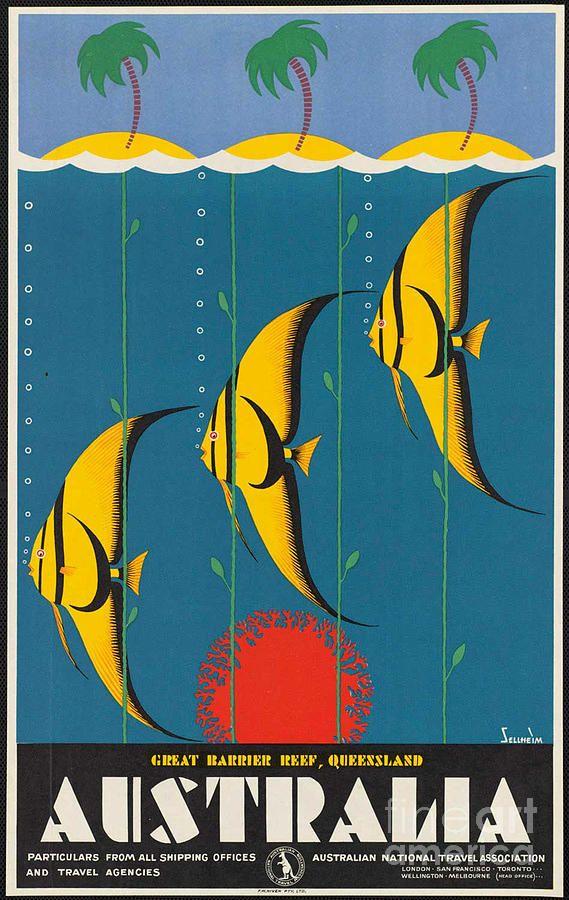 Vintage Australia Travel Poster Photograph  - Vintage Australia Travel Poster Fine Art Print