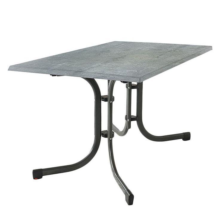 Garden Table Culcasi Ii Topalit Steel Concrete Decor