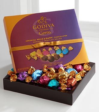 Just tried these, Godiva Chocolaiter Gems, DELICIOUS!  More please!