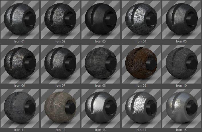 331 Standard Metal Materials Pack AIO for C4D #Metal