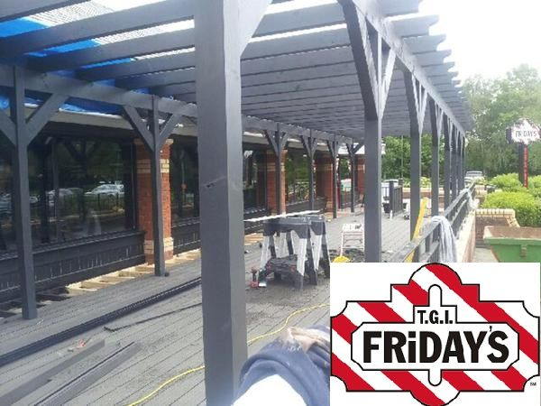 wpc wood plastic composite decking TGI fridays 3