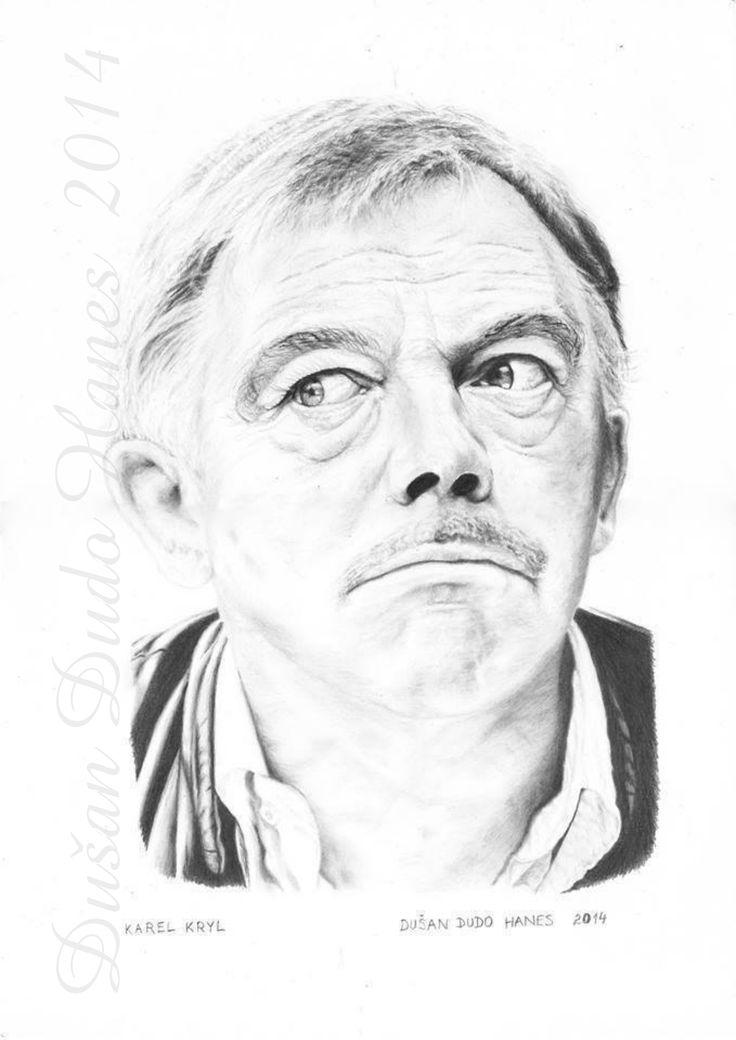 Karel Kryl, portrét Dušan Dudo Hanes 2014