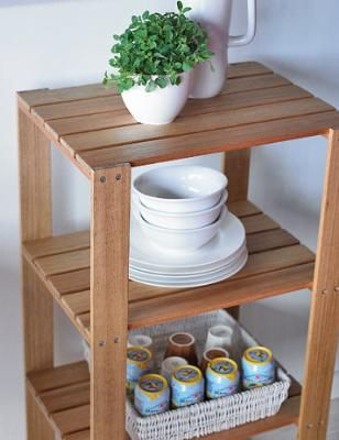 diy open shelves...plant shelf