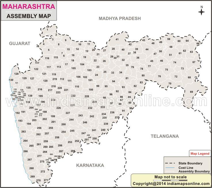 Detail Info about Maharashtra Assembly Elections 2014 with Date, Schedule and constituencies list. Maharashtra Assembly Map showing the all Assembly Constituencies with constituency name and the sitting members.