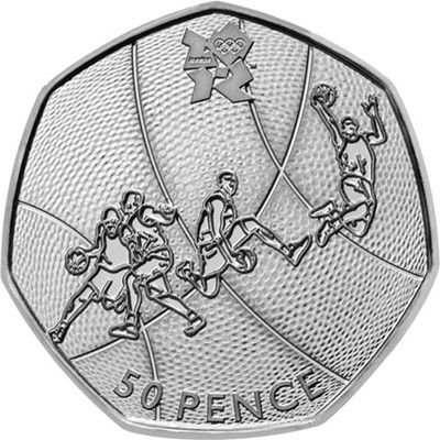 Basketball Olympic 50p