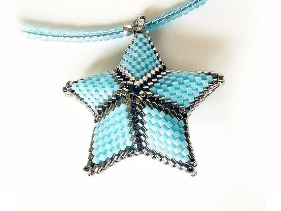 FREE SHIPPING Blue star  necklace elegant refined by Mamyblue, $45.00