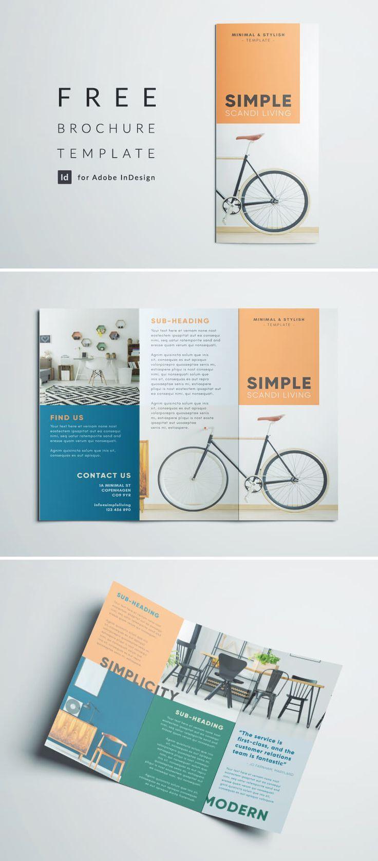 Simple Tri Fold Brochure Free Indesign Template Trifold Brochure Design Simple Brochures Indesign Brochure Templates Indesign 3 fold brochure template