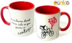 Mug color interno y cuchara, #regalospersonalizados #regalosuniko