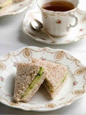 Cucumber Tea Sandwiches. I want a tea party