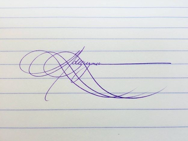 Scope out this amaaaaaaazing signature. | 21 Pieces Of Handwriting So Perfect They're Borderline Erotic
