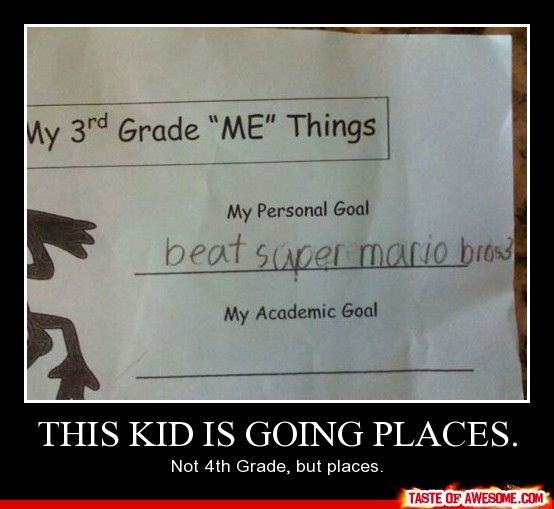 This kid is going places...