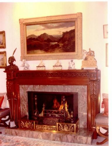 A Wonderful Custom Fireplace Fender Mantel Which Is Custom Designs,  Finishes And Sizes.