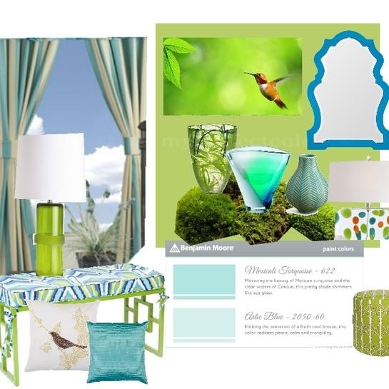 """The """"spring runway collection"""" 2013, homeforachange, Benjamin Moore, Benjamin Moore, Benjamin Moore, 2031-40 spring meadow green, mexicali turquoise 622, arctic blue 2050-60"""