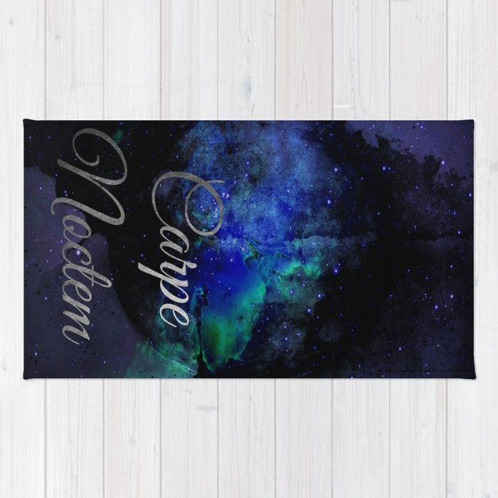 Ideal Buy Area u Throw Rugs with design featuring Carpe Noctem Seize The Night by